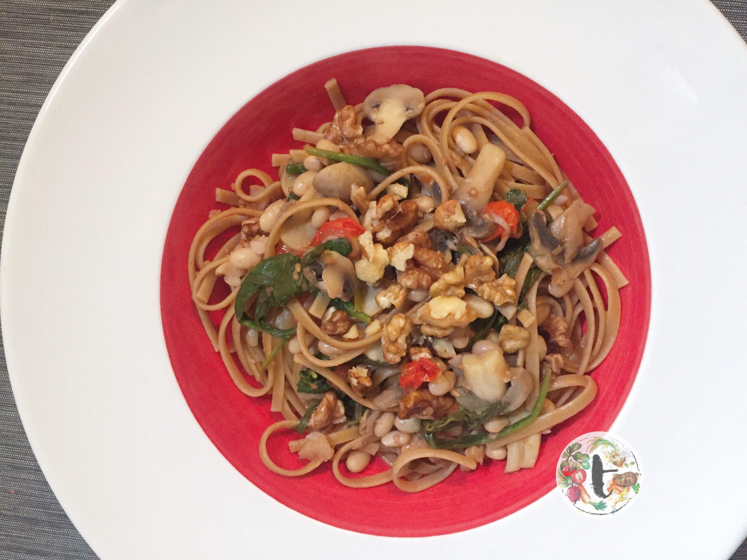 One-pot vegan pasta